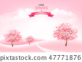 Beautiful spring nature background with blossom  47771876