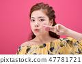 젊은여성, 여자, 스킨 케어,뷰티, 한국인 47781721