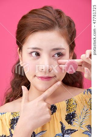 젊은여성, 여자, 스킨 케어,뷰티, 한국인 47781725