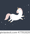 Cute magical unicorn in pastel colours. 47781828