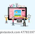 Web Design Concept with Graphic Designers 47783397