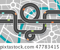 City Road Map with Streets. Vector Highway 47783415