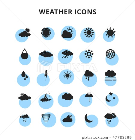 weather icons set 47785299