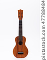 The ukulele guitar isolated on the white backgroun 47788484