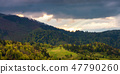 panorama of a wonderful countryside in mountains 47790260