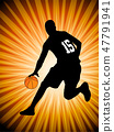 basketball player on the abstract  background 47791941