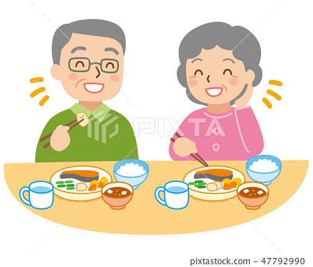老年男女吃 47792990