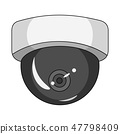 Vector design of cctv and camera sign. Collection of cctv and system vector icon for stock. 47798409