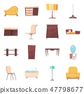 Isolated object of furniture and apartment icon. Collection of furniture and home vector icon for 47798677