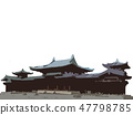 The silhouette design of the temple 47798785