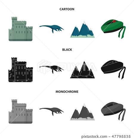 Edinburgh Castle, Loch Ness Monster, Grampian Mountains, national cap balmoral,tam o shanter 47798838