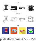 Thread reel, sewing machine, bobbin, pugwitz and other equipment. Sewing and equipment set 47799159