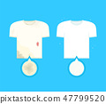 Dirty t-shirt with stains and clean t-shirt 47799520