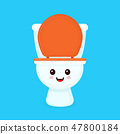 Cute funny smiling happy toilet bowl.  47800184