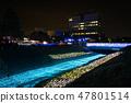 冬天的田邊節的豐田河照明(千葉縣茂原市)2019年2月拍攝的照片 47801514