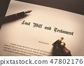 Last Will and Testament concept 47802176