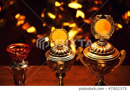gold silver bronze cup studio  47802378
