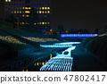 冬天的田邊節的豐田河照明(千葉縣茂原市)2019年2月拍攝的照片 47802417