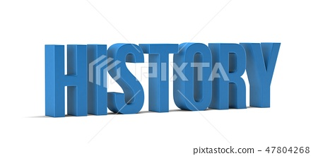 History word. 3D Render illustration in white background 47804268