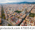 Aerial view of Barcelona 47805414