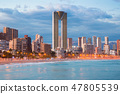 benidorm cityscape night 47805539