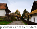 Image of small houses in traditional hungarian village Holloke 47805676