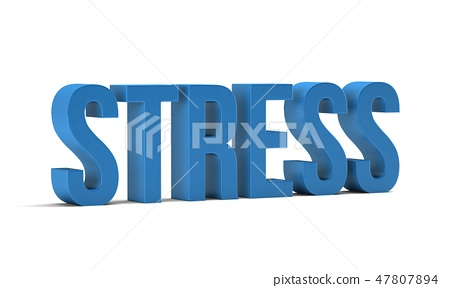Stress word. 3D Render illustration in white background 47807894