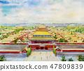 北京 里程碑 地标 47809839