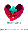 Heart care logo. 47813876