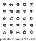 Icon set - heart vector illustration 47815826