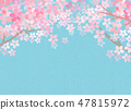 櫻花日本紙紋理 47815972