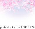 櫻花日本紙紋理 47815974