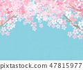 벚꽃 종이 바람 텍스처 47815977
