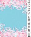 櫻花日本紙紋理 47815983