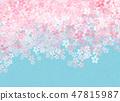 櫻花日本紙紋理 47815987