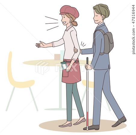 日本環球莊園協會監督材料盲人 47816944