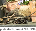 An object of wild boars of wood 47816996