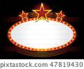 Illuminated neon marquee sign 47819430
