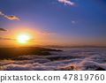 The sea of clouds and the sunrise 47819760