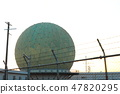 Ministry of Defense Information Headquarters Tashinago Communication Center 7 Radar dome near view (Chikuzen cho, Asakura gun, Fukuoka prefecture) 47820295