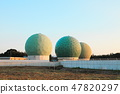 Ministry of Defense Information Headquarters Tachibana Wash Communication Center 4 Radar dome (Chikuzen cho, Asakura gun, Fukuoka prefecture) 47820297