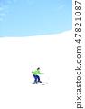 孩子們喜歡滑雪 47821087