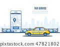 Taxi service banner. 47821802