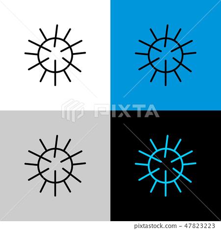 Sea urchin thin linear simple icon illustration. 47823223