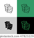 Nori seaweed sheets thin linear simple icon. 47823229