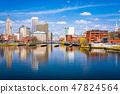 Providence, Rhode Island, USA downtown skyline 47824564