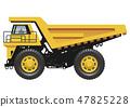 대형 덤프 트럭의 일러스트 47825228