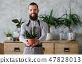 home garden nature care man show plant 47828013