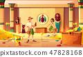 Treasure hunters in egypt pharaoh treasury vector 47828168