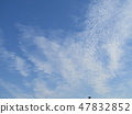 Winter blue sky and white clouds 47832852